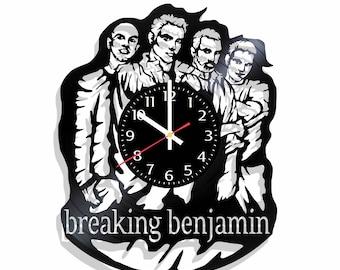 Breaking benjamin rock band wall clock with original design, breaking benjamin wall poster