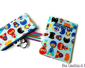 Protects notebook - protects notebook for children - protects notebook fabric - protects text back to school notebook zero waste