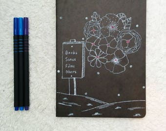 Notebook - series, books, movies, etc - cover illustrated by hand
