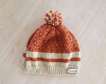 Knitting hat for adults