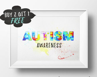 Special Needs Autism Awareness Printable Decor Wall Art Print, Autism, Instant Dgital Download, Autism Decor, Autism Art, Printable Art