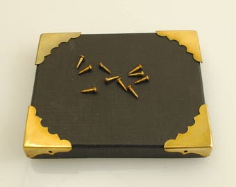 Solid Brass Corners 4 Pieces