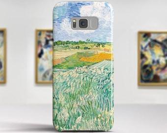 """Vincent van Gogh, """"Plain near Auvers"""".Samsung S8 Case, Samsung S7 Case, Samsung S6 Case, Huawei, LG, Google Pixel Cases. Art phone cases."""
