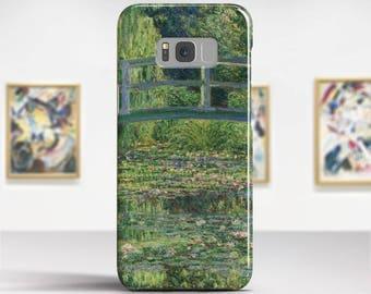 "Claude Monet, ""Waterlily Pond"". Samsung S8 Case, Samsung S7 Case, Samsung S6 Case, Huawei, LG, Google Pixel Cases. Art phone cases."