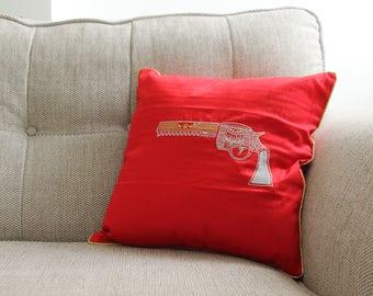 Red Gun Cushion