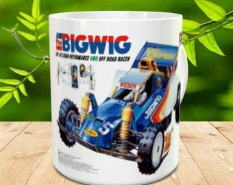 BigWig Coffee Mug with optional Keychain, Vintage Model, gift for hobby lover, radio controlled car, RC Model  Coffee Mug, Gift for Him