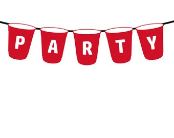 Printable Red Cup Banner