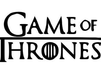Game of Thrones Horror Vinyl Car Decal Bumper Window Sticker Any Color Multiple Sizes Halloween