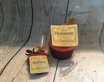 Liquor Bottle Label - Cupcake Size