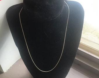 18in Genuine Sterling Silver Snake Chain