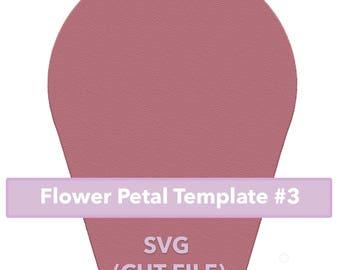 Paper Flower Template #3 SVG file