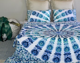 Queen size Mandala doona, duvet, bed spread, bed cover, tapestry, mandala tapestry, Quilt, bedding, sheet, pillowcases, boho, Gift Ideas