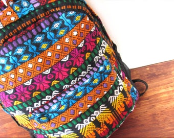 colorful guatemalan backpack/ ethnic/ boho chic backpack