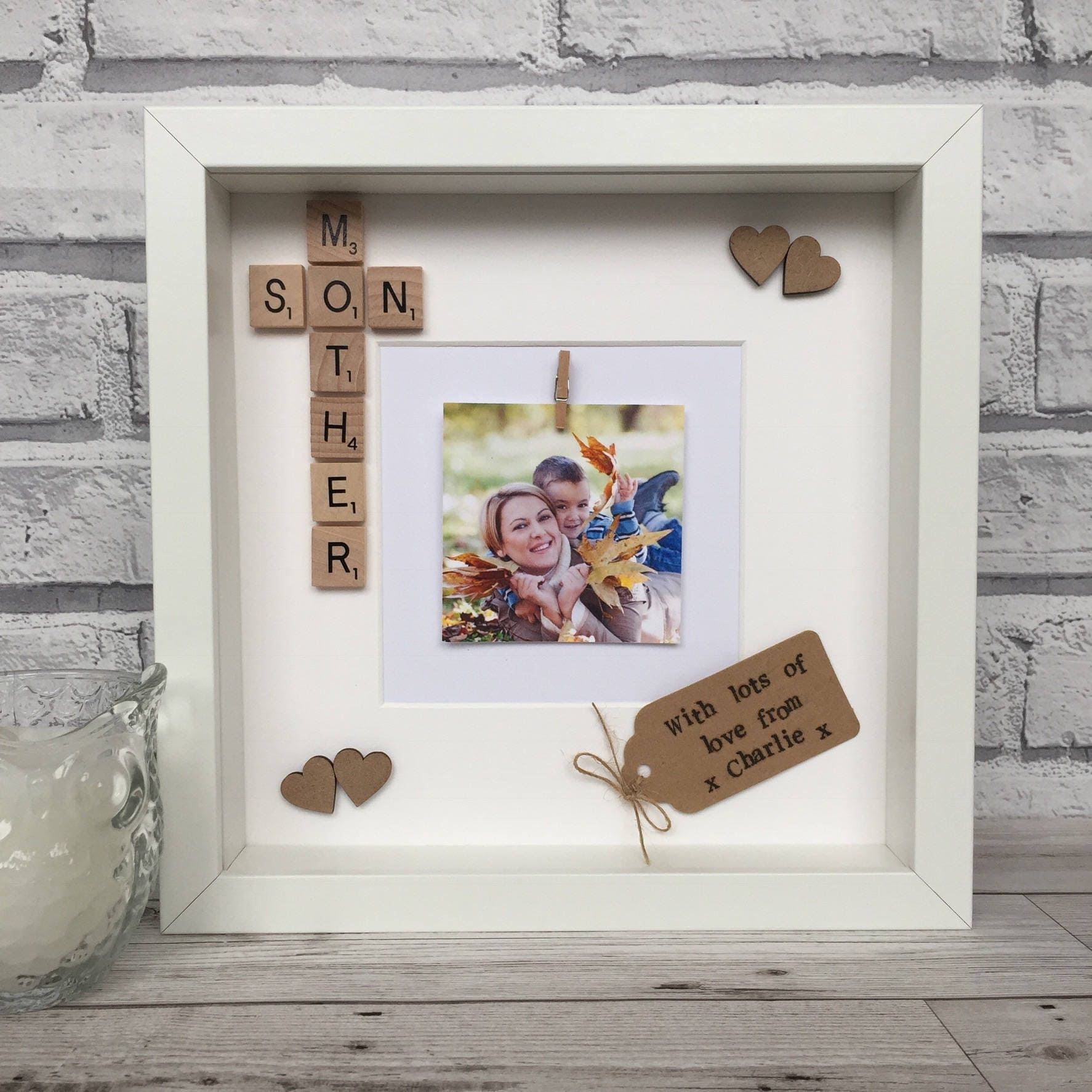 Mother And Son Scrabble Frame Motherson Frame Gift For Mum