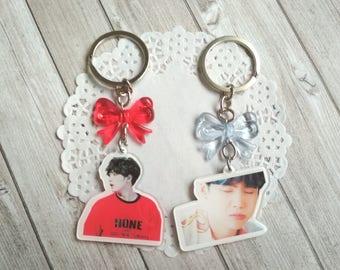 Min Yoongi, Suga, keychain BTS bangtan boys kpop decoden keychain charm acrylic chibi cute kawaii, accessories kpop