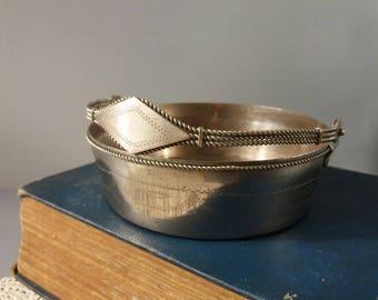 Soviet Metal Sugar Bowl Vintage Candy Bowl Vintage metal candy bowl Soviet candy dish Soviet candy basket Stainless steel bowl Metal bowl