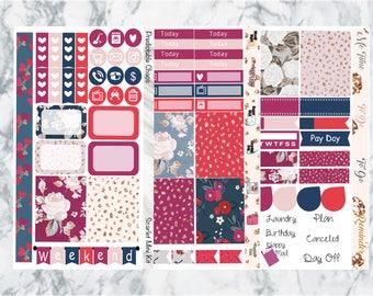 Scarlet Mini Kit, planner stickers
