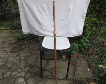Antique Primitive Hand Carved distaff For Hand Spinning a wool