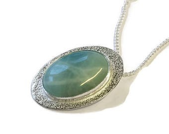 Amazonite Frosted Pendant