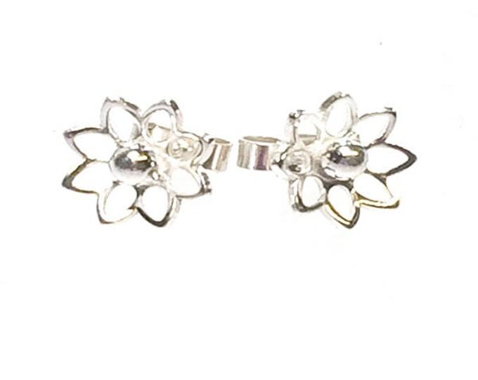 Open Flower Stud Earrings
