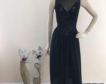 Vintage Victoria's Secret Black Gown