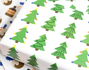 3x Sheets A2 Eco Wrapping Paper - Christmas Tree