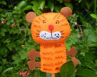 Orange Tiger finger puppet
