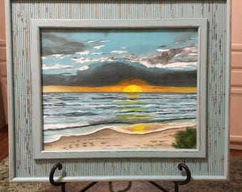 SOLD- Commissioned Beach Painting
