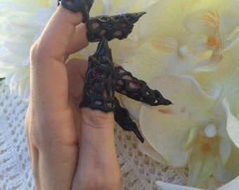 Dragon claws black armor nails goth dark