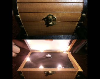 Legend of Zelda Authentic Treasure Chest w Lights and Game Sounds, Ring Box