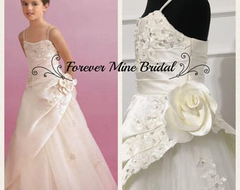 Satin And Tulle Flower Girl Dress Custom Colours Available