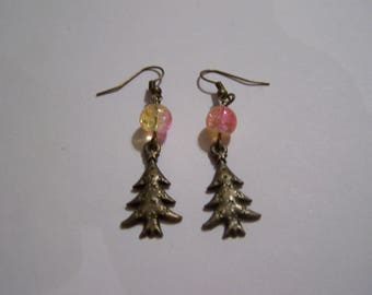 yellow rose tree BO4 earrings