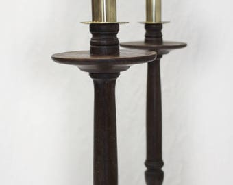Oak floorstanding candlesticks (free local delivery)