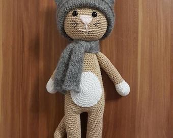 Cute crocheted kitty cat amigurumi handmade gift idea süß gehäkelt miezekatze katze geschenk idee