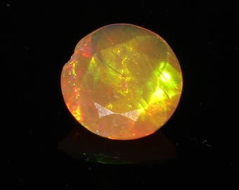 Amazing Natural Ethiopian Welo Fire Opal Gemstone Cutting Beautiful Brown Colour Round Shape 1.50 Cts. Size 10 M.M. MGj 186