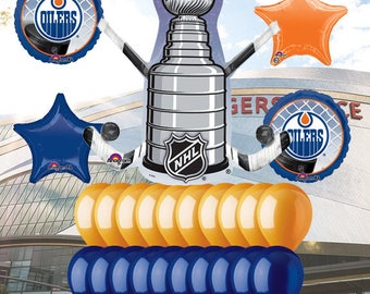 Edmonton Oilers 25 piece Balloon Kit
