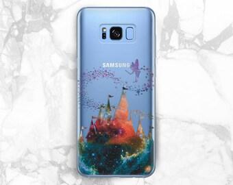 Disney Castle Tinkerbell Galaxy s8 plus clear Samsung note 8 case Galaxy s8 plus case Samsung s7 edge Samsung s7 Clear case Case Samsung s8
