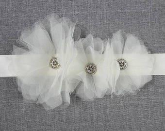Chloe Ivory Bridal Sash