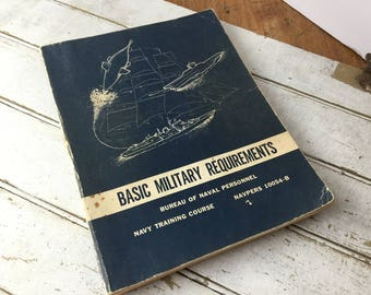 1966 Basic Military Requirements Book Navy