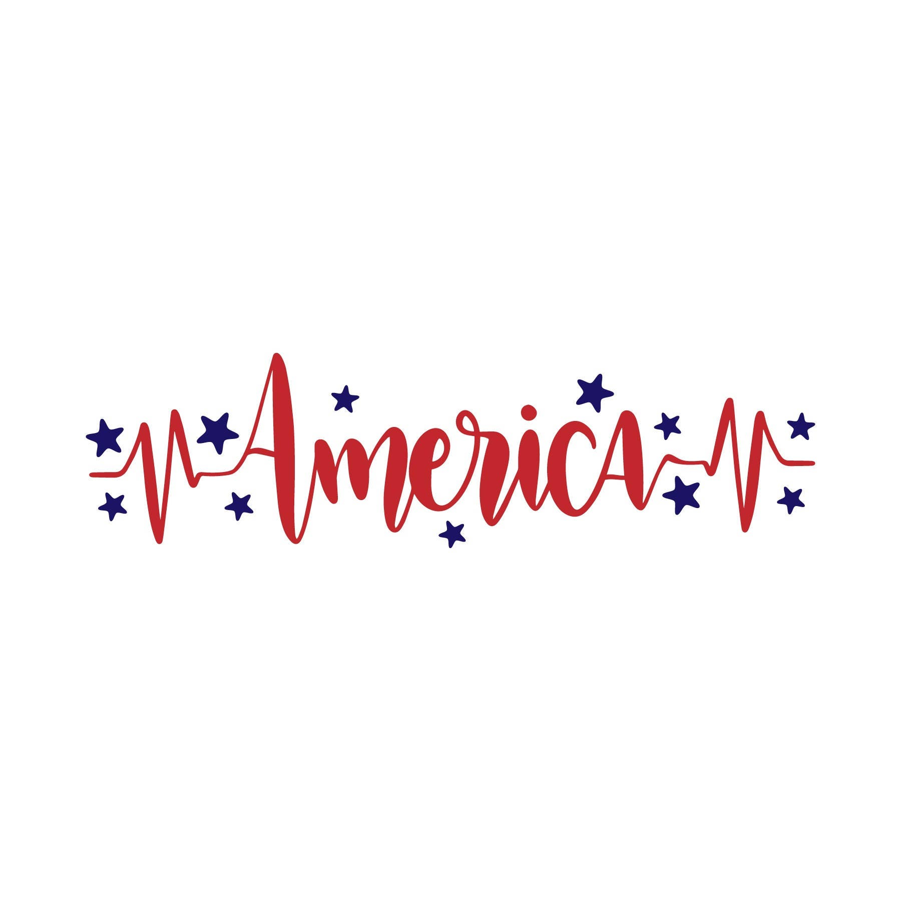 America Heartbeat SVG/Fourth Of July SVG