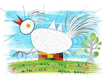 The Bird with the Open Beak