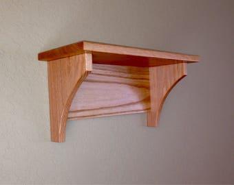 Country Oak Wall Shelf