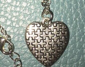 Autism Puzzle Pieces Necklace