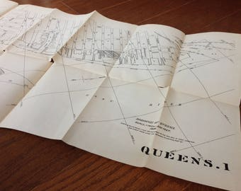 1898 Antique Map of Queens, New York City, NY