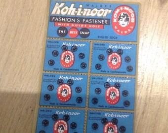 Poppers snap fasteners press-studs vintage koh-i -noor