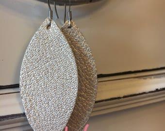 Petal Leather Earrings
