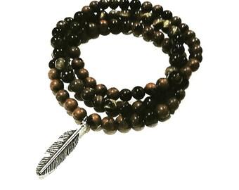 Natural Gemstone Beaded Bracelet
