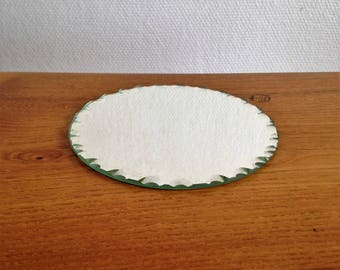 Set of 2 beveled round mirror - vintage - Antique french