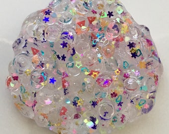 Confetti Ice Cube Fishbowl Slime /Confetti Glitter / clear slime / gifts for kids / custom made / most popular / crunchy slime /