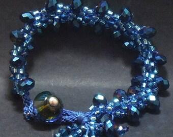 Sparkly Blue Bracelet
